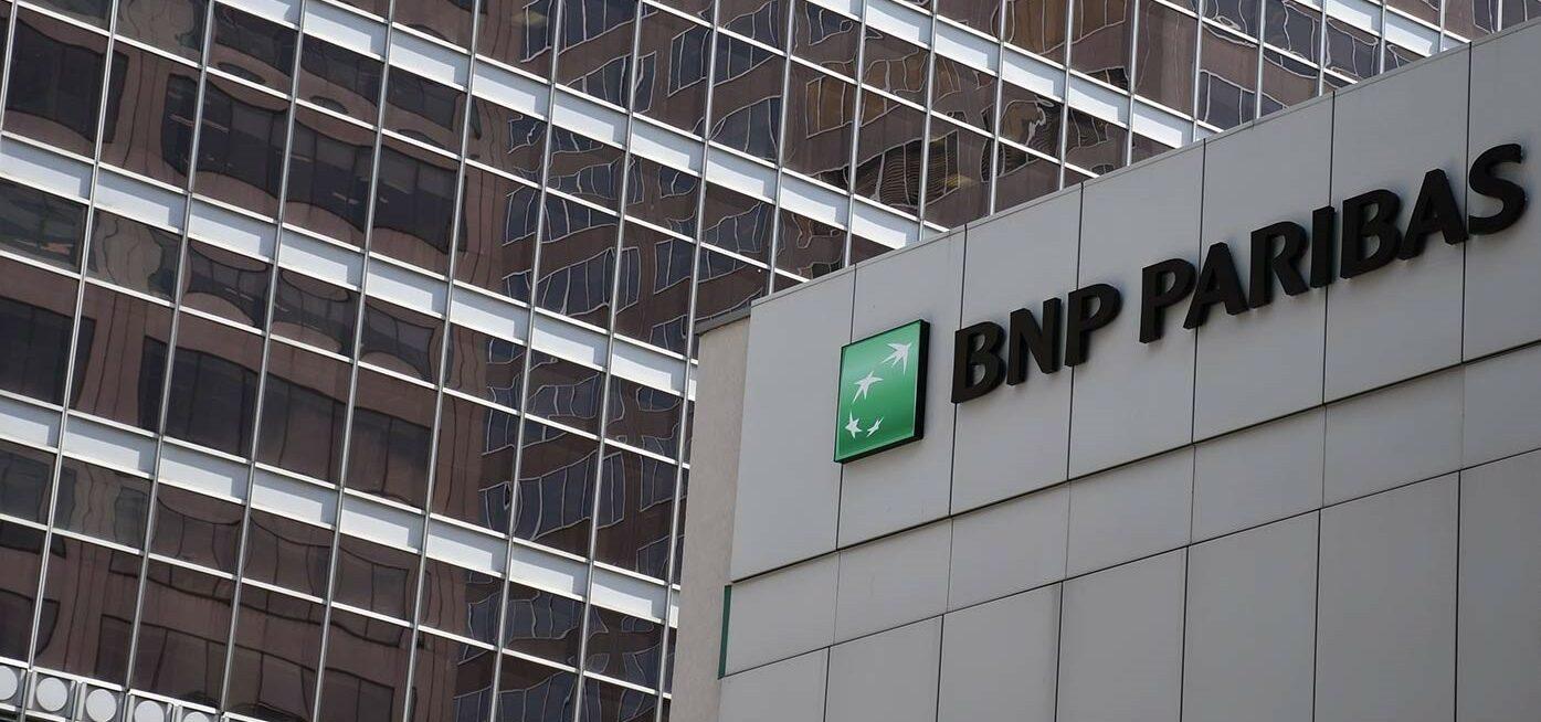 PHOTO DU LOGO BNP PARIBAS, BUREAU DE MONTREAL